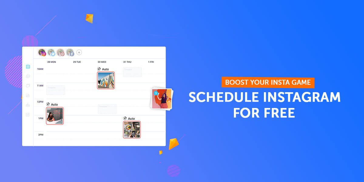 5 Tools to schedule Instagram posts For free