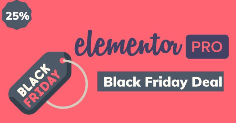 elementor black friday deals 2020