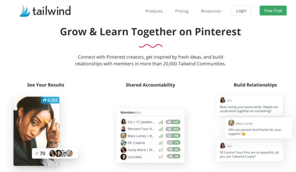 Tailwind for Pinterest and Instagram Business