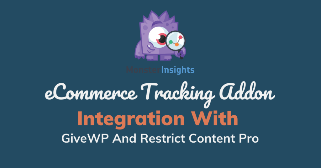MonsterInsights eCommerce Tracking Addon Integration